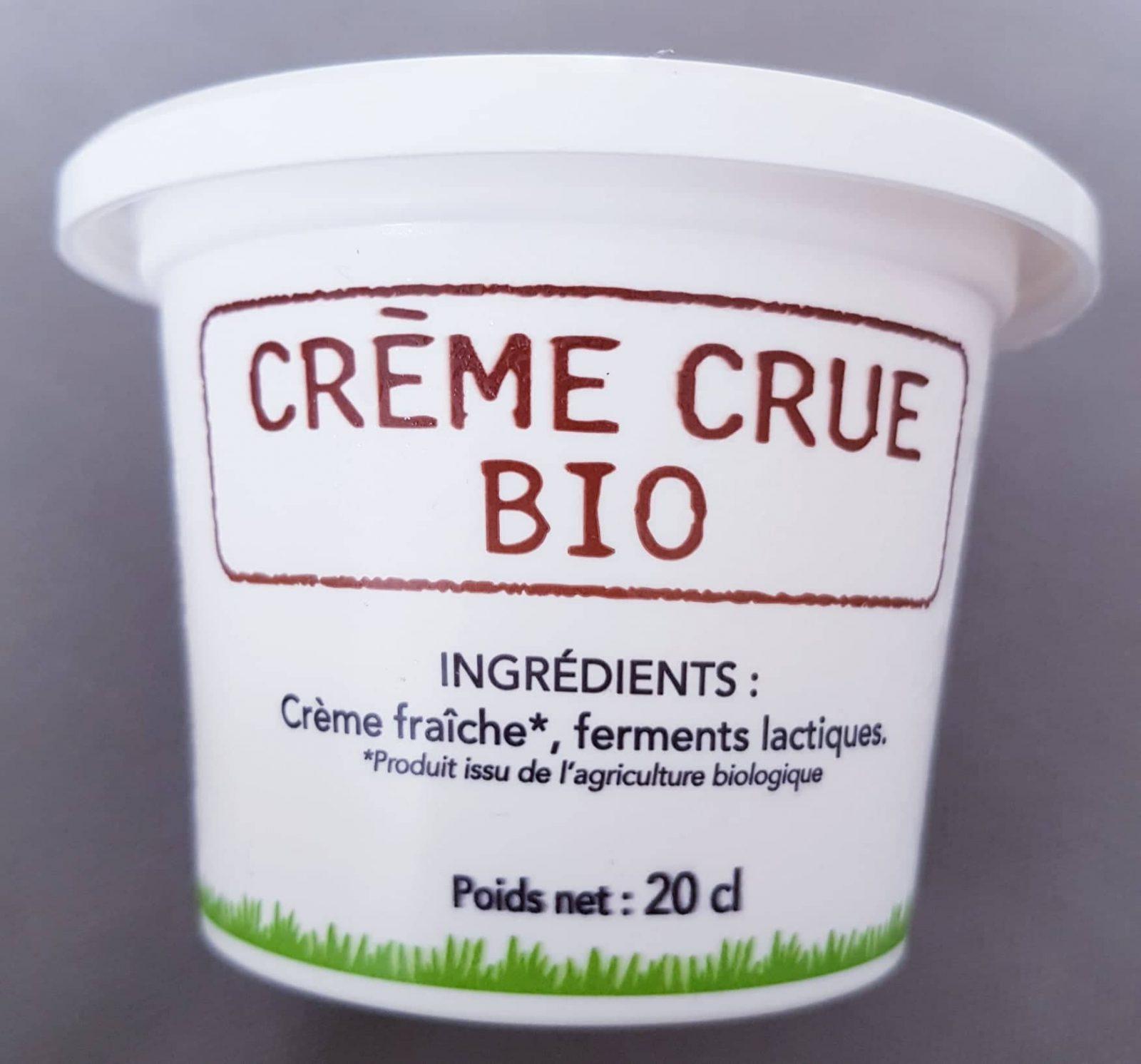 Crème Crue BIO (20cl)