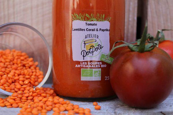 Soupe Tomate et Lentilles Corail BIO (25cl)