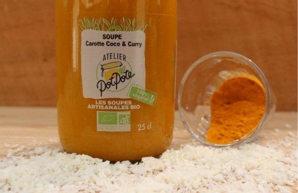Soupe Carotte, Coco et Curry BIO (25cl)