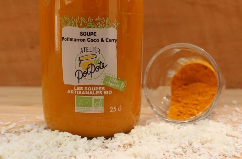 Soupe Potimarron, Coco et Curry BIO (50cl)
