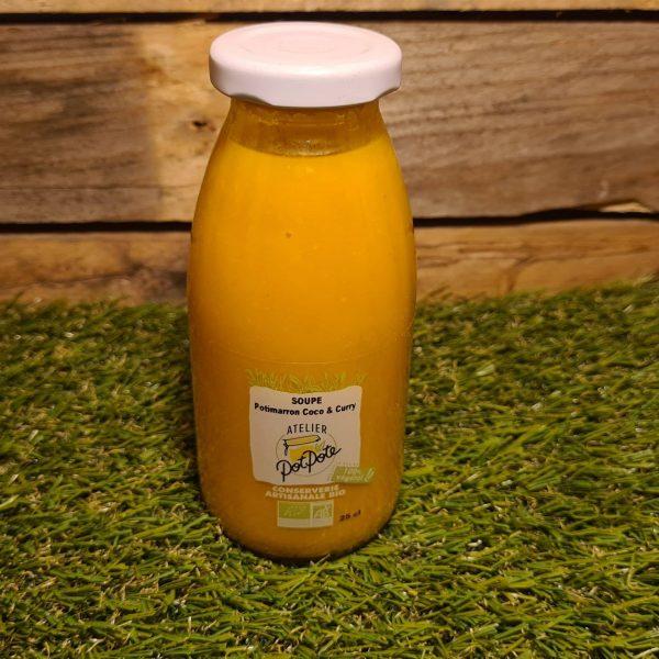Soupe Potimarron, Coco et Curry BIO (25cl) 1
