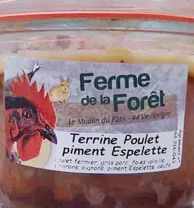 Terrine de poulet piment d'Espelette (250g)