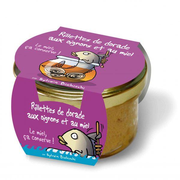 Rillettes de Daurade aux oignons et au miel (90g) 1