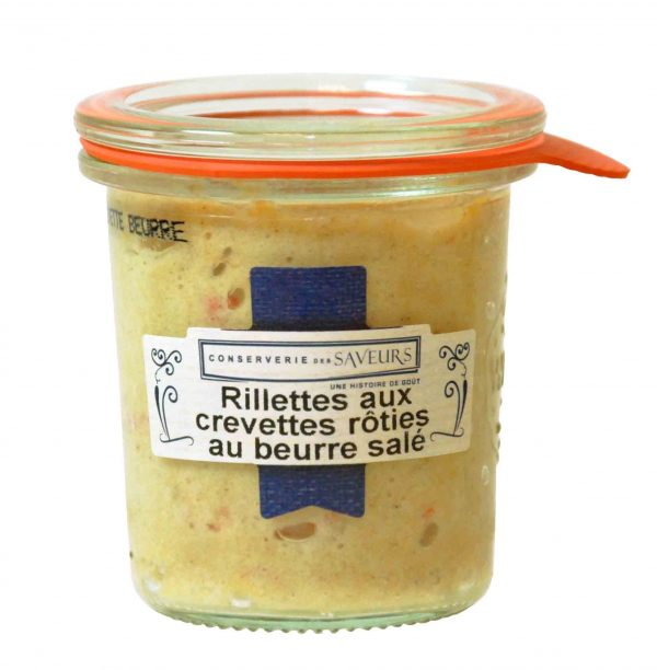Rillettes aux crevettes rôties et au beurre salé (100g) 1