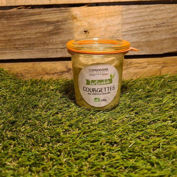 Délice de Courgettes Chèvre et Basilic 100% BIO (100g) 1