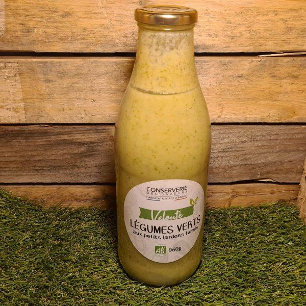 Velouté de légumes verts aux lardons fumées 100% BIO (960g) 1