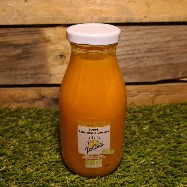 Soupe Potimarron et Curcuma BIO (25cl) 1