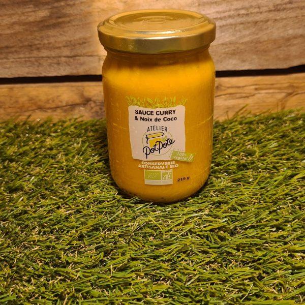 Sauce noix de coco et curry BIO (215g) 1