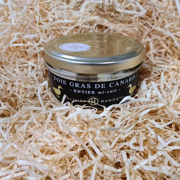 Foie Gras de Canard Entier Mi-Cuit (120g) 1