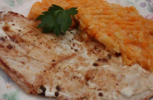Purée de Patates Douces & Escalopes de Porc Marinées (2 pers.) 1