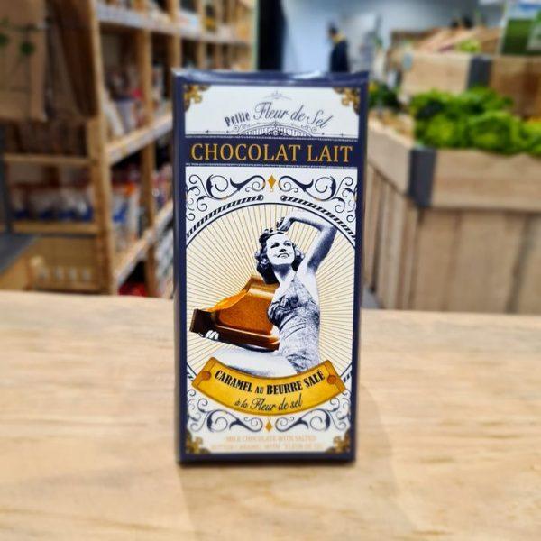 Tablette Fleur de Sel Chocolat Lait Fourré Caramel (100g) 1