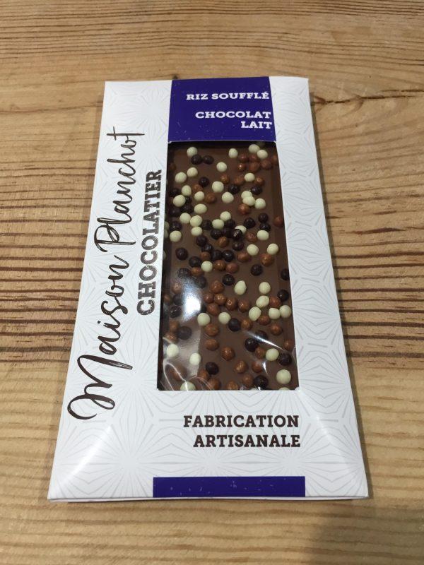 Tablette Chocolat Lait & Riz Soufflé (100g) 1