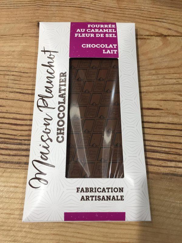Tablette Chocolat Lait fourrée au Caramel au Beurre Salé (100g) 1