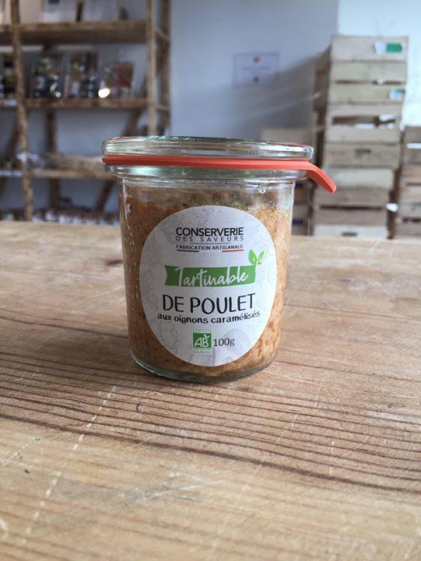 Poulet aux Oignons Caramélisés 100% Bio (100g) 1