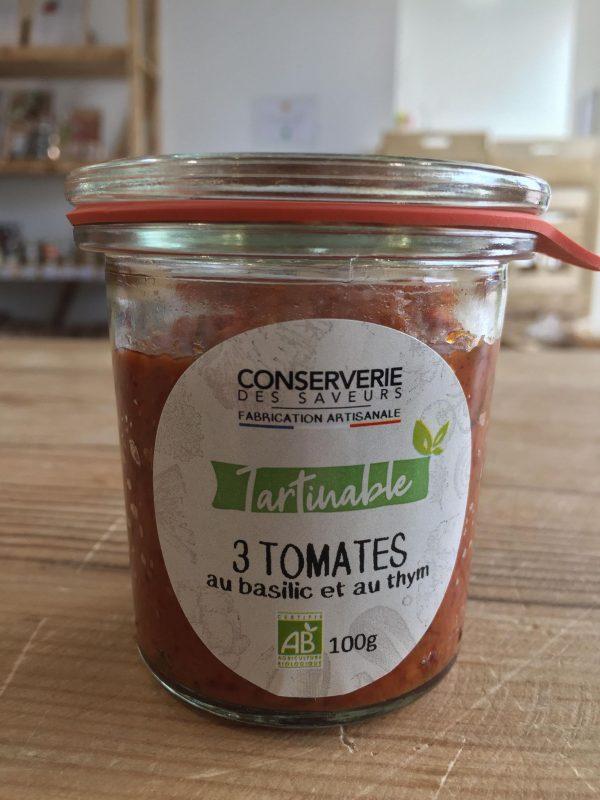 3 Tomates au Basilic et au Thym 100% Bio (100g) 1