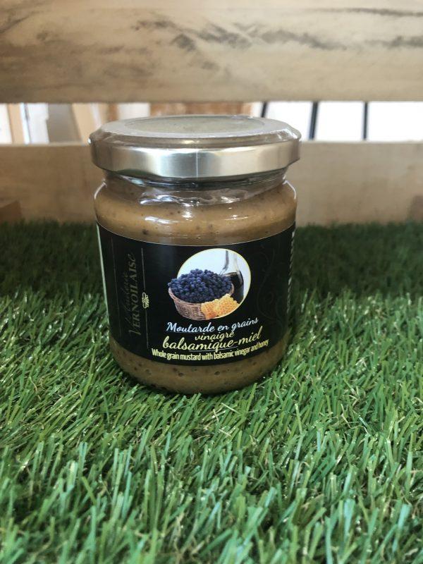 Moutarde en Grains Vinaigre Balsamique-Miel (200g) 1
