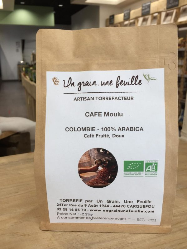 Café Moulu Colombie 100% Arabica BIO (250g) 1