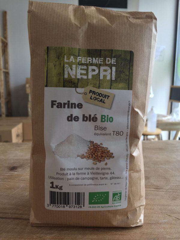 Farine de Blé Bio Bise T80 (1kg) 1