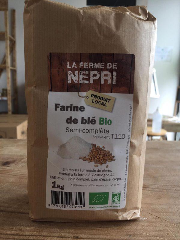 Farine de Blé Bio Semi-Complète T110 (1kg) 1
