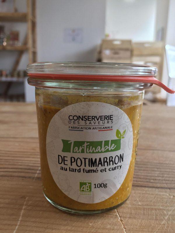Potimarron au Lard Fumé et Curry 100% Bio (100g) 1