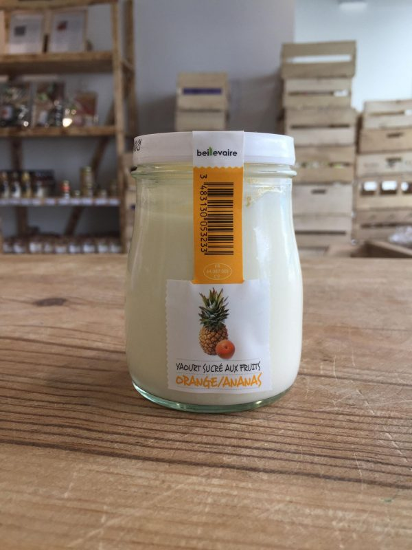 Yaourt à l'Ancienne Orange/Ananas (180g) 1