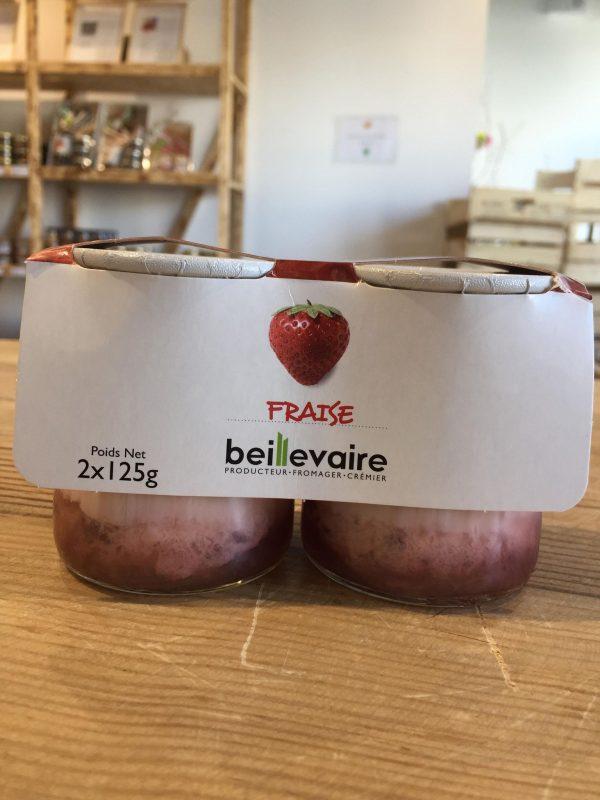 Yaourt Nature sur Fruits Fraise 2X125g 1